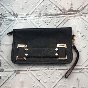 ASOS Black/ Gold Large Clutch Bag